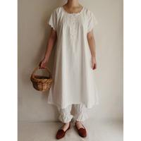 - 20's French Cotton Night Long Dress