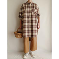 Euro Vintage Plaid Long Shirt