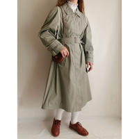 70's - 80's Euro Vintage Long Coat With Waist Belt