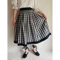 Euro Vintage Cotton Tyrol Flare Skirt
