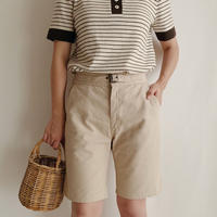 USA Cotton Half Pants With Belt