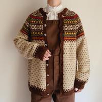 Euro Vintage Nordic Hand Knit Cardigan