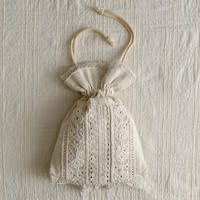 Euro Vintage Hand Woven , Hand Embroidery Drawstring Bag