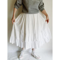 - 30's French Vintage Cotton Tiered Frill  Skirt
