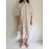 60's Euro Vintage F lower Print Long Pajama Shirt
