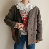 Euro Vintage Double Buttons Jacket