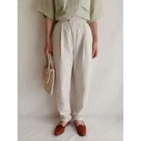Euro Vintage Cotton Linen Tapered Pants