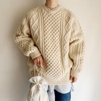80's Irish Cable Hand Knit Sweater
