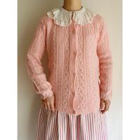60's - 70's USA Openwork Knit Cardigan
