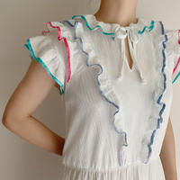 80's Euro Vintage Cotton Gaze Flare Dress