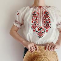 Euro Vintage Hand Embroidery Folk Tunic