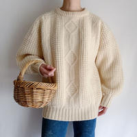 80's EuroVintage Ireland Volume Sleeve Knit Sweater