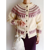 80's Euro Vintage Nordic Knit Cardigan