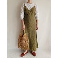 India Cotton Striped Camisole Long Dress