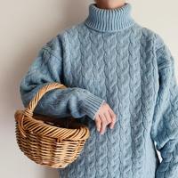 Euro Vintage Turtleneck Knit Sweater
