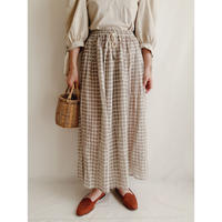 Euro Vintage Rayon Gather Long Skirt
