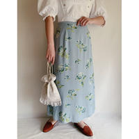 "Euro Vintage ""Laura ashley"" Flower Print Long Skirt"