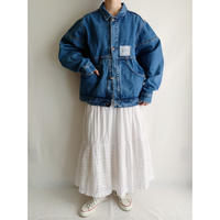 80's French Wide Silhouette Denim Jacket
