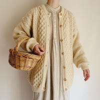 Irish Cable Long Knit Cardigan
