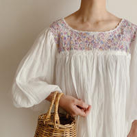 Hand Embroided Mexico San Antonio Embroidery Tunic