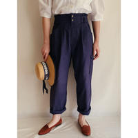 Euro Vintage Cotton Tuck Pants With Cargo Pocket