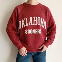 80's USA OKLAHOMA SOONERS Printed Sweat Shirt