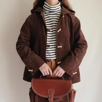 70's Euro Vintage Corduroy Hooded Jacket
