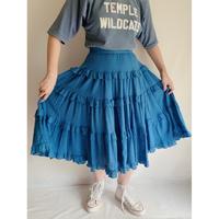 Euro Vintage Cotton Tiared Frill Skirt
