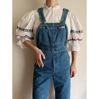 Euro Vintage Cotton Volume Sleeve Folklore Short Blouse