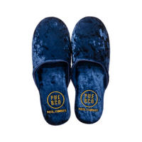VELVET SLIPPER 〈SMALL/NAVY BLUE〉