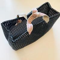 PLASTIC STRAW BAG 〈BLACK〉