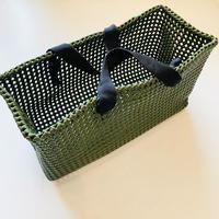 PLASTIC STRAW BAG 〈OLIVE〉
