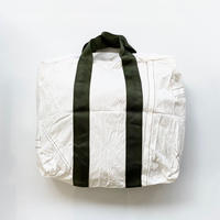 【USED】VINTAGE PARACHUTE TOTE BAG 〈GREEN BELT〉