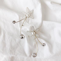 beads flower   2way pierce