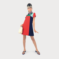 アシンメトリーカラーセパレートドレス