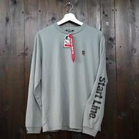 【S残り1点】StartLine Active Long T-shirt/アクティブロングTシャツ(Gray/グレー)