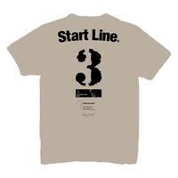 【受注生産】StartLine 3rd Anniversary T-shirt/3周年記念Tシャツ(Beige/ベージュ)
