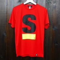 【残りわずか】Big S Active T-shirt/ビッグエスアクティブT(Red/レッド)