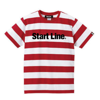 【M残り1点】Start Line Standard Border T-shirt/スタンダードボーダーTシャツ(Red/レッド)