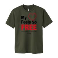 【残り1点】FREE Active T-shirt/フリーアクティブTシャツ(Khaki/カーキ)メンズ限定カラー