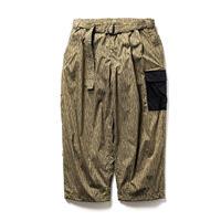 RAIN CAMO BAGGY PANTS - OLIVE