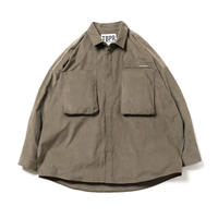 CORD BIG SHIRT - KAHKI
