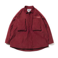 CORD BIG SHIRT - BURGUNDY
