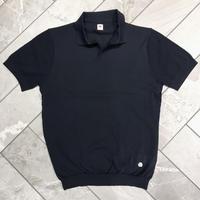 JWO [ 41-1211150 ] ファンクションヤーン半袖スキッパーシャツ - ネイビー(98)