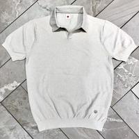 JWO [ 41-1201240 ] ブークレー半袖スキッパーシャツ - ライトグレー(11)