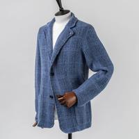 JWO [ 41-4212912 ] チェックWジャガード【ニットJK / SB-2B】 -  ブルー(94)
