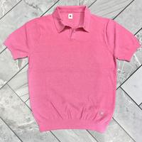 JWO [ 41-1201240 ] ブークレー半袖スキッパーシャツ - ピンク(73)