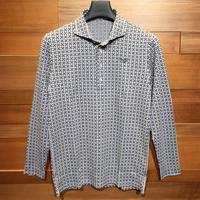 MOCO [ 21-2202912 ] ジオメタリックJQ【長袖4Bワイドカラーシャツ】シルバーグレー(13)