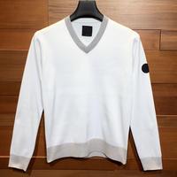 MOCO [ 21-1202911 ] ウーリーポリエステル【VネックPO】 - オフホワイト(05)