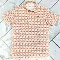 MOCO [ 21-2201443 ] フラワープリント半袖シャツ - オレンジ(35)